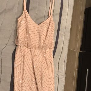 Adrianna Papell Dresses - Adrianna Papell Beaded Blouson Gown in Blush Sz 6